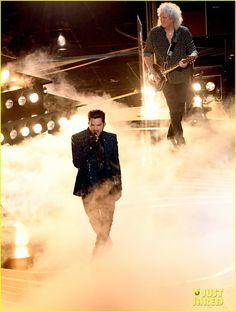 Adam Lambert Queen Team Up To Open Oscars 2019 Watch Adam Lambert Queen With Adam Lambert Brian May