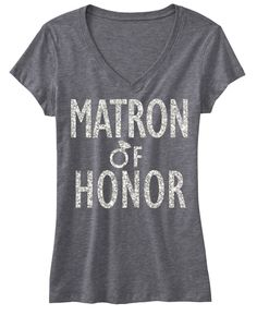 Matron of Honor Shirt with Silver Glitter Print