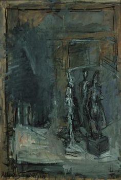 History of Art: Alberto Giacometti Alberto Giacometti, Giacometti Paintings, Monochromatic Art, Famous Sculptures, Sad Art, Famous Art, Figure Painting, Oeuvre D'art, Art Forms