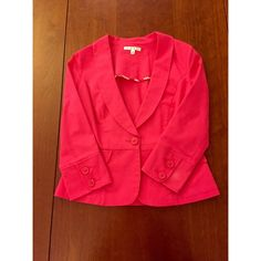 CABI: Pink Blazer Size 4 Great condition CAbi Jackets & Coats Blazers