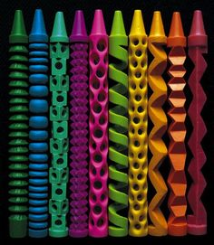 OMG these are so pretty..... Original pinner says: 6 Things to Do With Crayons (Besides Coloring)
