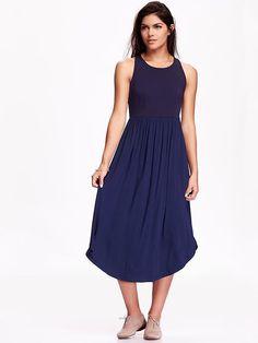 Sleeveless Midi Dress 74% polyester, 21% rayon, 5% spandex, W/ Rayon & spandex skirt.