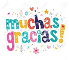 Muchas Gracias Many Thanks In Spanish Card Royalty Free Cliparts, Vectors, And Stock Illustration.