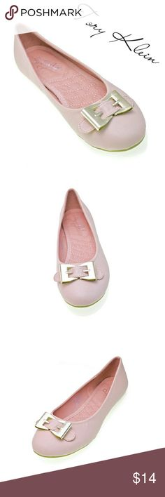 Women Ballerina 'Gisele' Buckle Flats, b-1307 Pink Brand new Tory Klein woman flats in PU leather with a metal belt like buckle in the front. Lightly cushioned sole, very comfortable. Larger sizes run small. Size 8 measures 9.5 inches in length, all half sizes are in 1/4 inch increments of each other. Tory K  Shoes Flats & Loafers