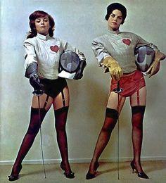 1960s Fencing ladies.