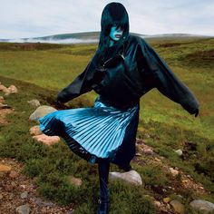 The model heads to the moors of Scotland to summon the Highland gothic spirit.