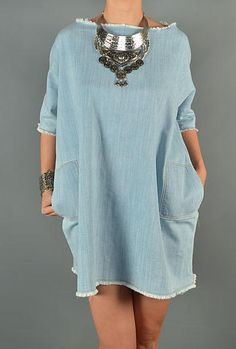 CASANALI | Denim Shift Dress  www.casanali.com