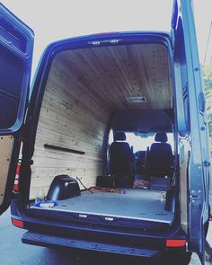 All done with the wood paneling. Going to make a temporary bed for now, until the bed lift arrives! #SprinterVan #VanLife #VanLifeDiaries #SprinterVanBuild #AdventureMobile #DIY