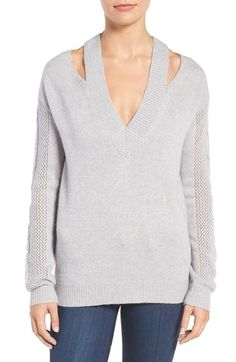 Free shipping and returns on Rebecca Minkoff Draco Sweater at Nordstrom.com. Geometric splits at the neckline put a deconstructed twist on a cozy sweater knit with a mix of tactile stitches and a touch of lightweight wool and alpaca.