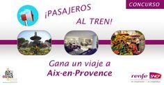 ¿Quieres conocer Provenza? ¡Gana un viaje a Aix-en-Provenza con @Es_FranceFr y @Renfe_SNCF_ES!