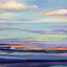 Original Oil Painting Abstract Seascape  16x16 by NikiArdenFineArt, $325.00