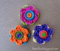 Crochet Flowers Tutorial By Carmen Heffernan : 1000+ images about Crochet Flowers on Pinterest Crochet ...