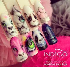 Micropainting by Indigo Educator Magdalena Żuk, Wrocław #nails #nail #micropainting #nailsart #icon #indigo #indigonails #indigo #amazing #swag #omg