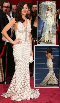 jean paul gaultier...marion cotillard wore this to the '08 oscars and i've dreamed about it ever since.  work of art.  <3