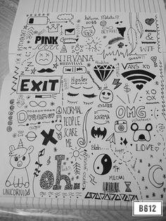 Love this ❤✨ simple doodles, cute doodles, hipster doodles, random doodles, Notebook Drawing, Notebook Doodles, Doodle Art Journals, Doodle Pages, Doodle Tattoo, Doodle Drawings, Easy Drawings, Small Drawings, Random Drawings