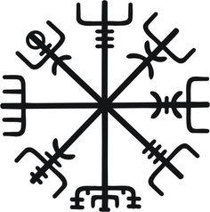 Icelandic Viking vegvisir rune black vinyl decal por sparrowhawk9