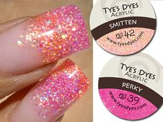 Pink Acrylic Nail Designs | PREMIXED GLITTER ACRYLIC NAIL POWDER / PERKY PINK DESIGNER MIX