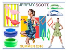 """Jeremy Scott Summer 2016!"" by whirlypath ❤ liked on Polyvore featuring Alexis Bittar and Melissa"