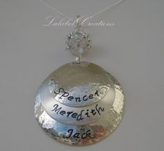 Hand Stamped Personalized Jewelry  Sterling by LalabelCreations