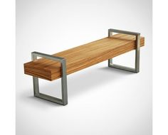 modern looking bench