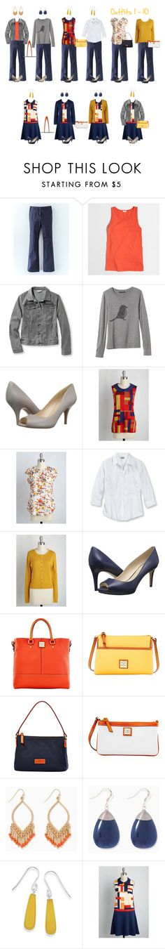 Mod Work Capsule Wardrobe: 1 - 10 by kristin727 on Polyvore featuring Banana Republic, Lands' End, J.Crew, L.L.Bean, Boden, Nine West, Dooney & Bourke, Natures Jewelry and plus size clothing