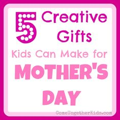 Come Together Kids: 5 Creative Gifts Kids can make for Mother's Day Homemade Mothers Day Gifts, Mothers Day Crafts For Kids, Fathers Day Crafts, Happy Mothers Day, Mother Day Gifts, Gifts For Kids, Fun Gifts, Kid Crafts, Photo Bookmarks