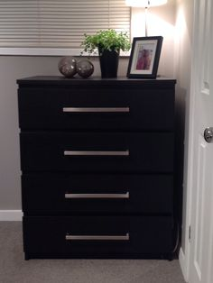 Ikea Malm chest of drawers with ikea Tyda handles