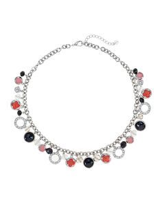 Pink Black Charm Short Necklace
