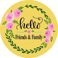 Hello Friends & Family Door Hanger -Reusable Mylar Stencil, Easter Sign Stencils Sign Stencils, Egg Shape, Easter Baskets, Door Hangers, Happy Easter, Friends Family, Happy Easter Day