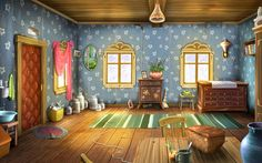cartoon background cartoonish artistic wallpapers google interior living 3d clipart desktop wall paper houses colors luxury discover