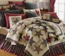 I could pin every room in this page!!! Country Bedding, Rustic Bedding, Blue Comforter, Fourth Of July Decor, Braided Rugs, Country Primitive, Primitive Decor, Quilt Bedding, Home Bedroom