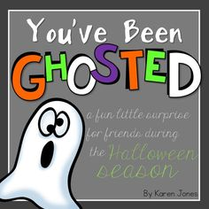 "Use this poem to start this fun tradition at your school for Halloween! ""Ghost"" another class by leaving them some anonymous treats. Free download."