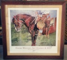 Limited Edition National Western Stock Show art. Frame by @Larson-Juhl. Custom framed by FastFrame of LoDo! #art #framing #denver #nwss #colorado