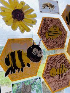 Kindergarten Art Projects, Kindergarten Activities, Preschool Crafts, Minibeast Art, Art For Kids, Bee Crafts For Kids, Diy Pour Enfants, Bee Activities, Bee Painting