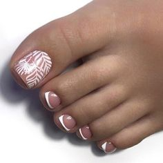 Classic French Tips ❤️ Toe nail designs for summer and toe nail designs fo… - Nail Art Designs Simple Toe Nails, Pretty Toe Nails, Cute Toe Nails, Summer Toe Nails, Toe Designs, Pedicure Designs, Pedicure Nail Art, Best Nail Art Designs, Toe Nail Designs Summer