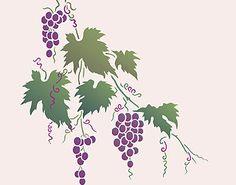 Large Grapevine Stencil Vine Stencils Grape Stencils