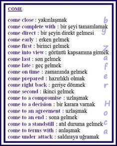 English Tips, English Study, English Lessons, Learn English, Vocabulary Journal, Grammar And Vocabulary, English Vocabulary, Learn Turkish Language, Learn A New Language