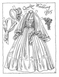 Victorian Brides Paper Dolls by Charles Ventura - Maria Varga - Picasa Web Albums Colouring Pages, Adult Coloring Pages, Coloring Books, Victorian Paper Dolls, Vintage Paper Dolls, Victorian Bride, Paper Dolls Printable, Colored Paper, Sketches