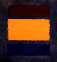 Mark Rothko, Untitled (Brown, orange, blue on maroon), 1963