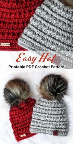 Make a Easy Hat Make a Easy Hat,Häkeln/Stricken hour crochet hat scrunchie pattern free crochet hat crochet projects knitting projects Diy Tricot Crochet, Crochet Adult Hat, Bonnet Crochet, Crochet Beanie Pattern, Crochet Crafts, Crochet Hooks, Crocheted Hats, Beginner Crochet Patterns, Knit Hats