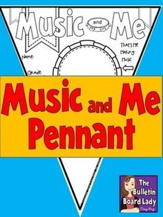 Music and Me Pennant  Great for back to school, leaving with a sub or celebrating MUSIC in our schools!