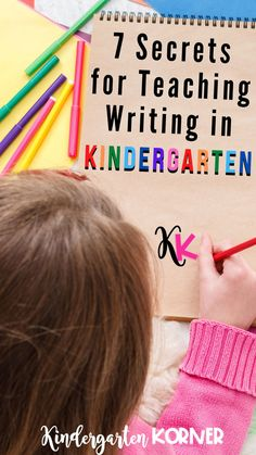 Read more on the blog about 7 Secrets for Teaching Writing in Kindergarten.  This blog post includes everything in my teacher writing toolkit that I use throughout the entire year in kindergarten including writing units, printable paper, journal tips, and more.