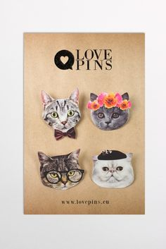 Hipster Cats Pins