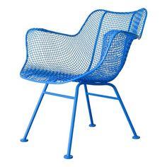 Russell Woodard Sculptura Armchair in Sky Blue - $600 Est. Retail - $450 on Chairish.com