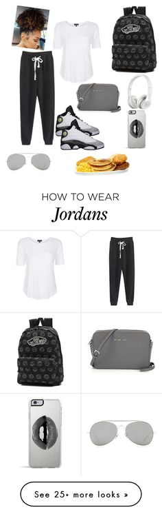 """Lazy school day"" by tairneishaj on Polyvore featuring Topshop, Retrò, Vans, Beats by Dr. Dre, Acne Studios, Lipsy, women's clothing, women's fashion, women and female"