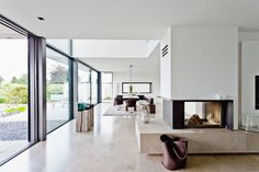 Open-plan living and dining area, Neuenkirchen, North Rhine-Westphalia, Germany Home Trends, Open Plan Living, Beautiful Interiors, Home Buying, Great Rooms, Dining Area, Modern Interior, Interior Inspiration, Surabaya