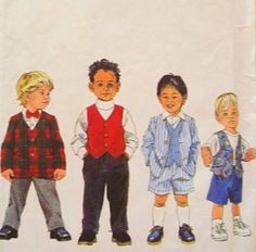 Amazon.com: Simplicity 8442 Boys Size 2,3,4 Jacket, Vest and Pants or Shorts, Wedding Suit: Arts, Crafts & Sewing