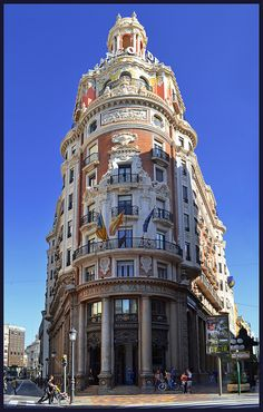 The Banco De Valencia building in Valencia, #Spain
