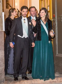 Carl Philip and Sofia.  Sweden Royals attend the formal gathering of the Swedish Academy