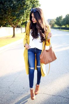 Love this yellow long cardigan!! Does it come in petite?!